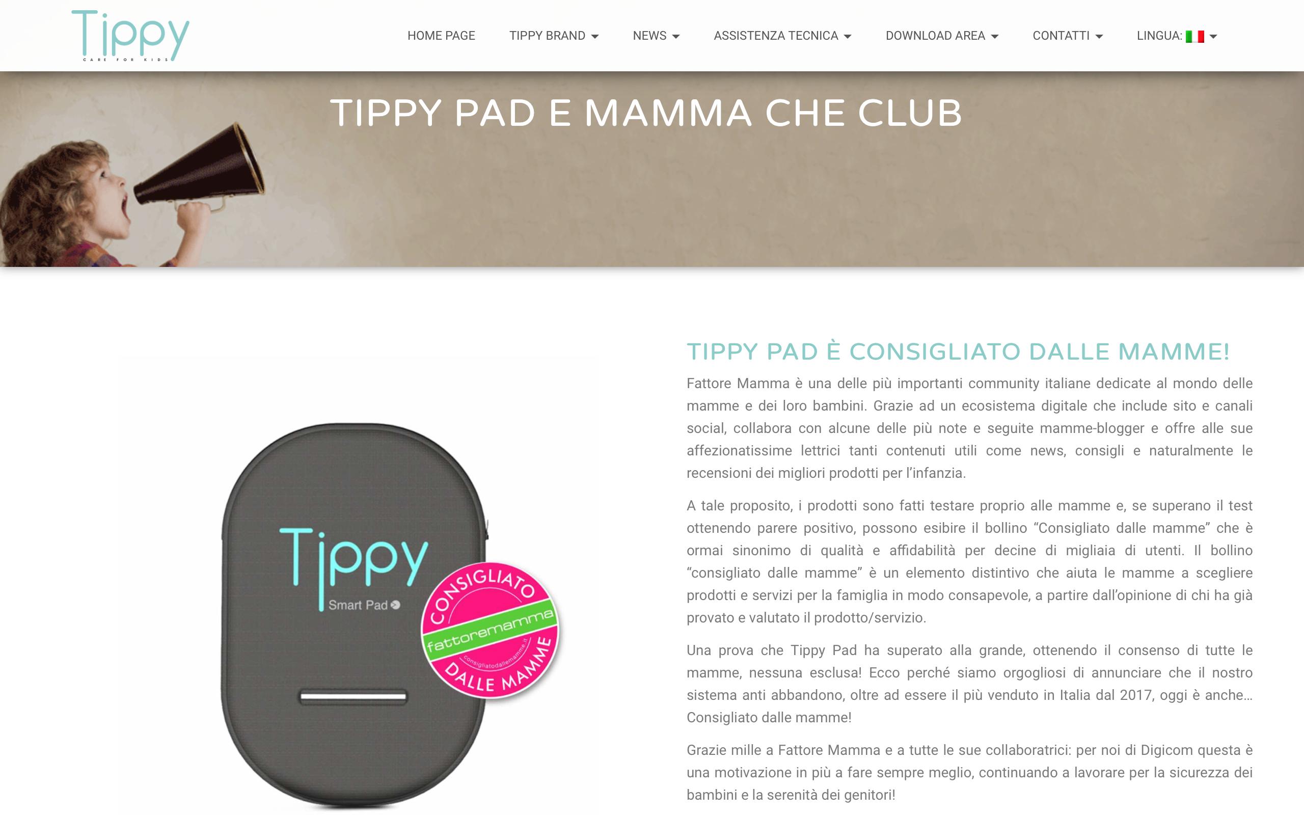 Tippy Pad Bollino Tech Consigliato dalle mamme